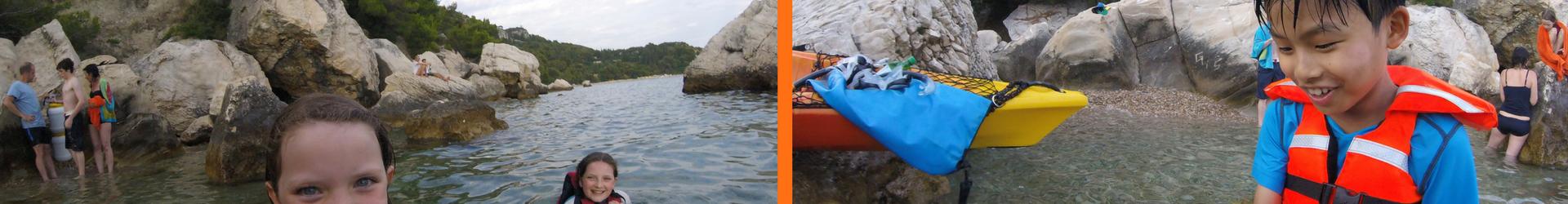 Split sea kayaking
